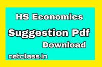HS Economics Suggestion Pdf